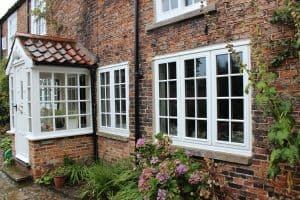 home windows in white done by Blackthorn Timber Windows in North East