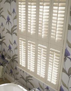 bathroomPlantation Shutters Newcastle for privacy and interior design