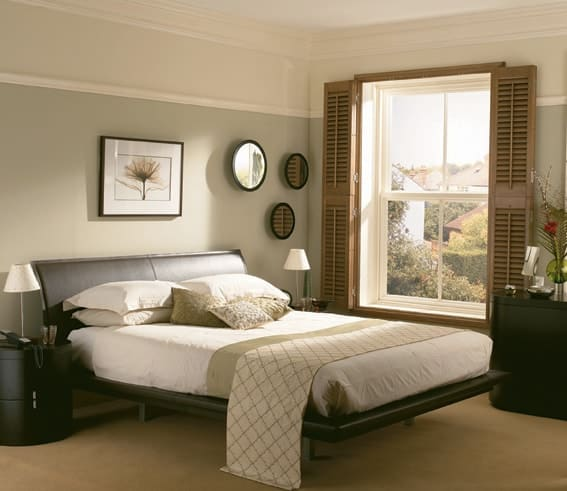 custom fit bedroom plantation shutters and blinds in Newcastle Upon Tyne home