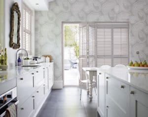kitchen plantation shutters Durham give natural shading from the heat