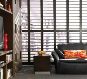 plantation shutters in Durham used as premium window treatment
