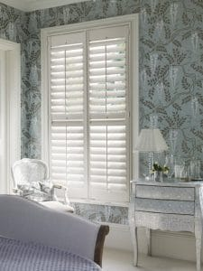 quality window shutters in the bedroom for privacy