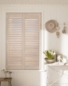 Wooden windows dressed with Plantation Shutters North Shields