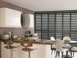 Plantation Shutters in Tyne and Wear fitted on a large window