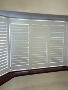 Victoria's Shutters no tilt rod plantation shutters in Whitley Bay