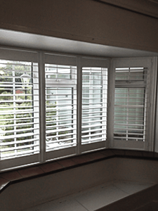 No tilt rod plantation shutters by Victoria's Shutters