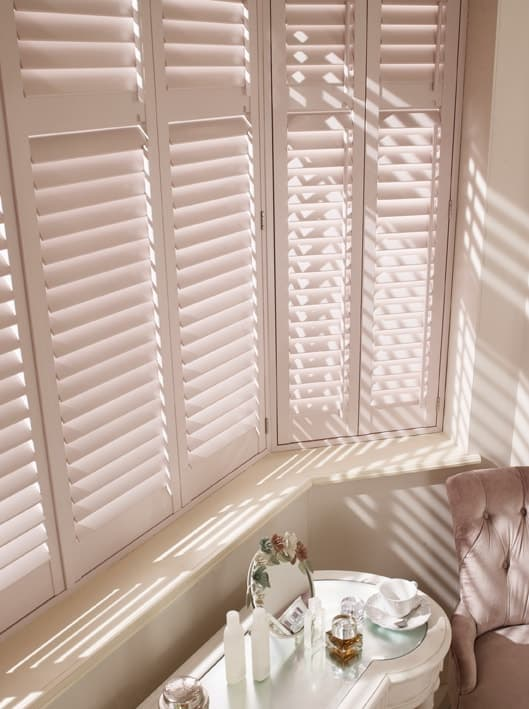 White plantation shutters in Newcastle Upon Tyne for bedroom and livingroom