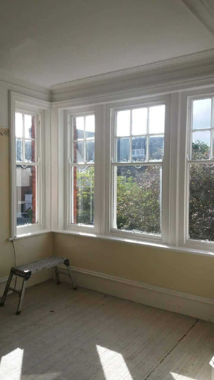 Picture before the installation of Large Window Shutters Gosforth