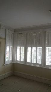 After the installation large white window shutters open in Gosforth