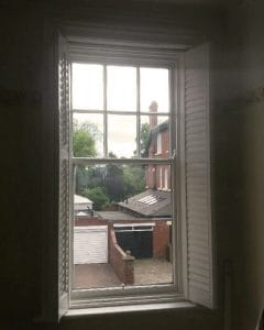 seattle style American shutter fitted in Gosforth UK