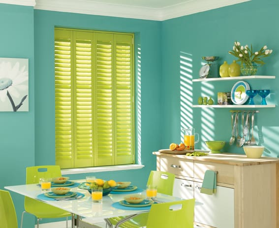 Plantation Shutters fitted in the kitchen
