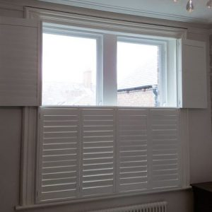 white window tier-on-tier blinds in Gosforth