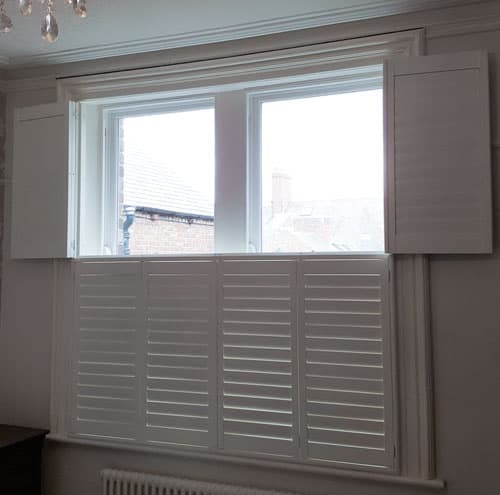 Tier-on-tier window shutters Gosforth