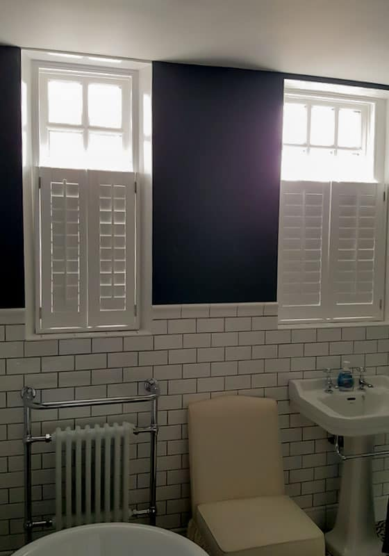 cafe style bathroom window shutters Jarrow