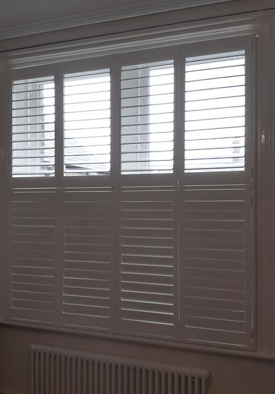 tier-on-tier wooden window blinds Jarrow