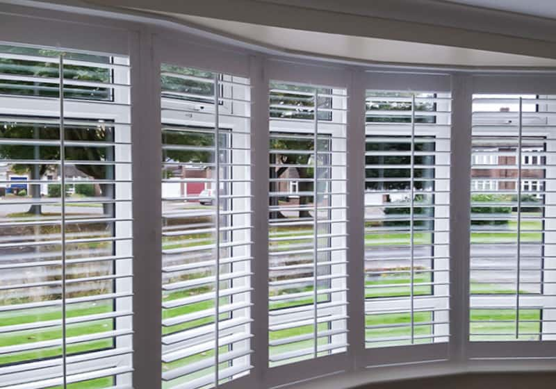 shallow bay window shutters Jarrow