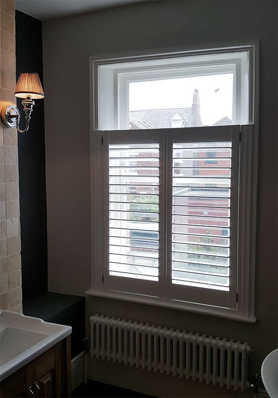 Jesmond bathroom plantation shutters