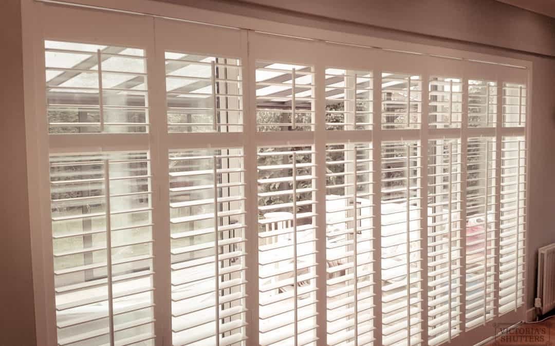 Recent Jobs: Extremely large bi-fold sliding plantation shutters in Durham