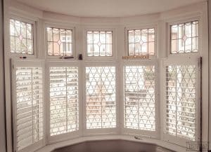 white Plantation shutters installed at customer house in York