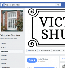 Victoria s Shutters Facebook Reviews and testimonials