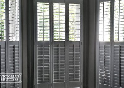 White shutters, inside view. Tyne and Wear