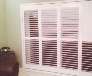 4 Sliding Open Plantation Shutters