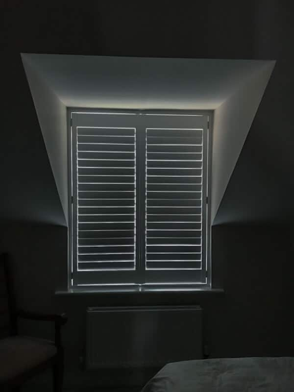Natural wood plantation shutters in Hexham