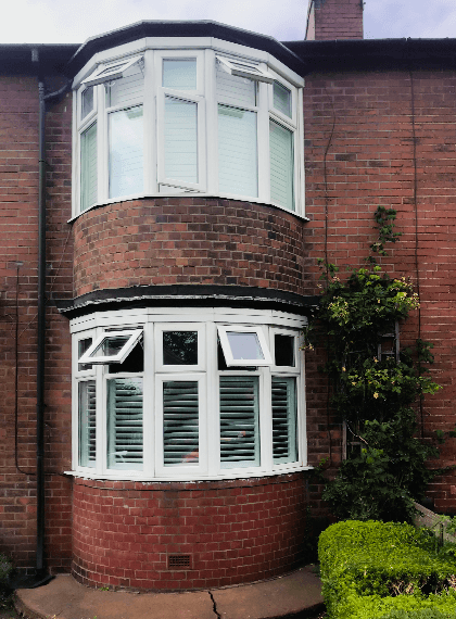 Recent Jobs: Cafe style shutters and hidden tilt rod job in Heaton