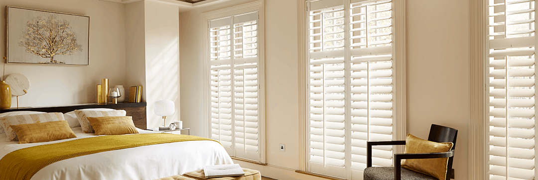 Plantation shutters in Newcastle upon Tyne for large windows will enhance privacy and the window outlook