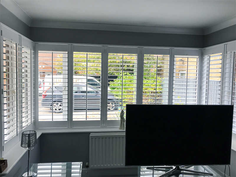 Box Bay white wooden shutters North Shields