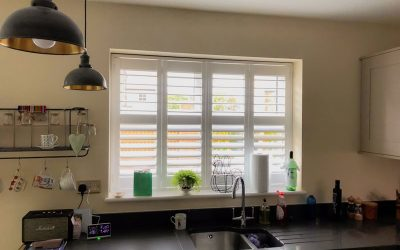Brighten up your kitchen with white shutters
