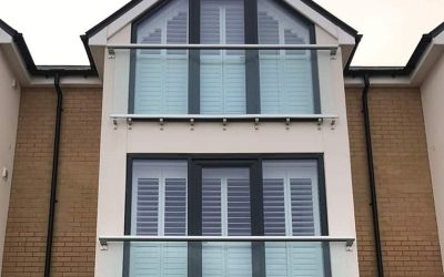Recent Jobs: Angled Plantation Shutters
